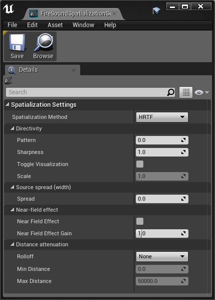 Get started with resonance audio for unreal resonance audio double click the new icon to open firesoundspatializationsettings malvernweather Images